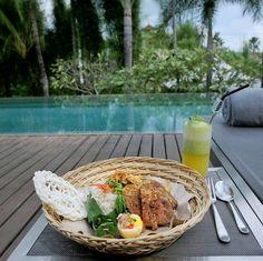 #Bali. Balung Bawi Panggang at @TheKayanaBali grilled pork ribs marinated in traditional Balinese spices.