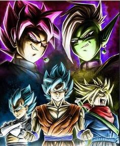dragonballsuper,goku,vegeta,trunks,gokublack