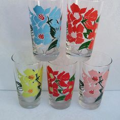 Libbey Glasses Vintage Drinking Glasses  Water by WhimzyThyme, $46.95