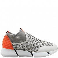 ElenaIachi Grey/Orange Laser Ring Sneaker Amanda
