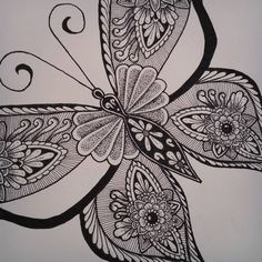 Details... ♡ Almost finished this A4 zentangle butterfly ♡ • • • • #butterflydrawing #butterfly #drawing #animaldrawing #zentangleanimal #zentangle #doodle #dotwork #drawaddiction #letstanglehere #zentangleart #zendoodleart_feature