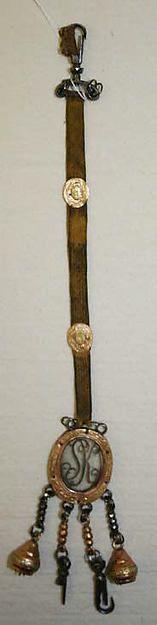 Late 18th Century British silk & metal watch fob. The Met.