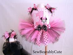 mini mouse birthday party ideas | Minnie Mouse Birthday TuTu numbers 16 by SewBearablyCute on Etsy, $55 ...