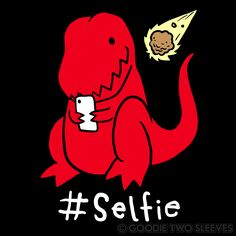 I& not going to say Selfies made the dinosaurs go extinct, but they irrefutably, did. Dinosaur Images, Dinosaur Funny, Cute Disney Drawings, Cute Animal Drawings, Dinosaurs Extinction, Dinosaur Wallpaper, T Rex Humor, Cute Dragons, My Spirit Animal