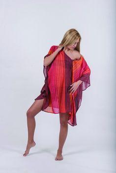 ΠΟΝΤΣΟ (ΚΑΦΤΑΝΙ ΚΟΝΤΟ) ΒΑΜΒΑΚΕΡΟ Kaftan, High Low, Dresses, Fashion, Vestidos, Moda, Fashion Styles, Caftans, Dress