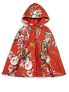 Dolce & Gabbana Toddler's & Little Girl's Animal & Flower Print Cape