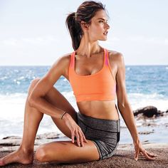 Beach-front yoga. #IDeserveIt | Victoria's Secret Sport