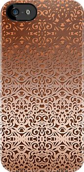 Damask Style Inspiration #iPhone #case #cover #damask #baroque #victorian #floral #bronze http://www.redbubble.com/people/medusa81/works/11021861-damask-style-inspiration?p=iphone-case&ref=work_main_nav