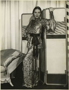 Adrienne Ames 30s evening gown