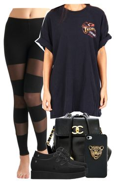 """""""You oughta be a crime Head to toe you tend my soul Like a taste of sweet moonshine☽"""" by polyvoreitems5 ❤ liked on Polyvore featuring MDKN, Chanel and Melissa"""