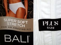 Bali Hi Cut Brief Panties THREE PACK plus size 12 5XL Luxe 3 Pair Underwear Lot #Bali #BriefsHiCuts