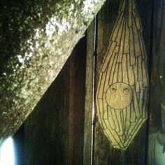 #posca #barek #pasteup#wheatpaste #cocoon #casemoth#tree#posca by *Barek*, via Flickr