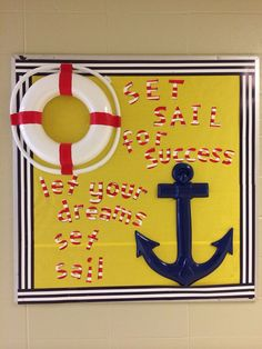 lighthouse bulletin board {broken link, just the picture for an idea} Nautical Bulletin Boards, Classroom Bulletin Boards, Future Classroom, Classroom Themes, Classroom Organization, Sailing Bulletin Board, Preschool Bulletin, Class Decoration, School Decorations