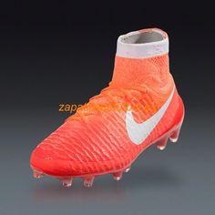 new styles 6525a 17f45 56% de descuento Zapatos Soccer Nike Magista Obra FG Universidad Brillante  Rojo Carmesi Hyper Naranja Blanco