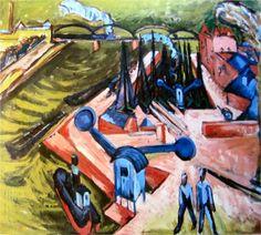 Ernst Ludwig Kirchner, Frankfurter Westhafen, 1916
