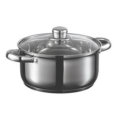 Starfrit 031074 Everyday Basix Stock Pot with Lid, Stainless Steel Kitchen Tools, Kitchen Dining, Kitchen Appliances, Rice Cooker, Slow Cooker, Dutch Oven Cooking, Crock, Stainless Steel, Steamers