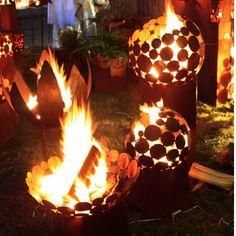 Feuerschale als Hingucker im Garten, handgemachte Gartendeko / gardening decoration: handmade fire bowl made by Atelier51 via DaWanda.com