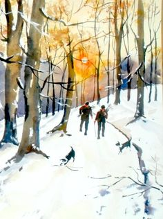 Gathering Winter fuel by SUSAN SHAW
