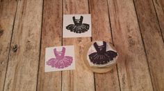 Ballerina Princess Dress Tutu Hand Carved Rubber Stamp Zakka Frame DIY Baby Shower Birthday Invite Invitation by KindredStamps