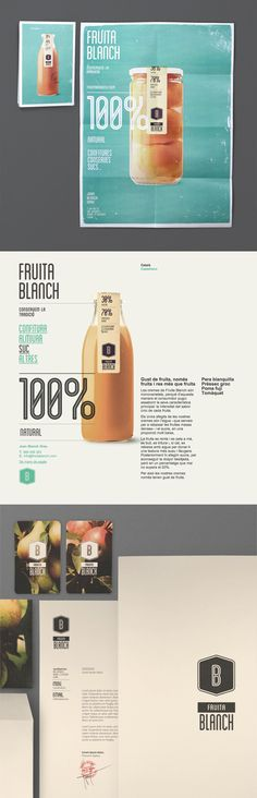 Beautiful packaging and identity design by Atipus for Fruita Blanch. Great color and typography give the identity a certain character.
