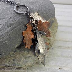 Dancing leaves long pendant #handmade # jewelry #
