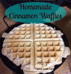 Making healthy homemade cinnamon waffles for breakfast will be easy with this delicious recipe. Try it today and have extra healthy waffles with cinnamon