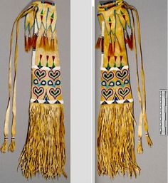 Pipe bag collected by Rev. Both on the S Cheyenne-Arapaho Res,ca 1880 NMNH ac