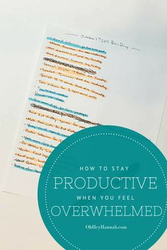 Actually Helpful ways to get stuff done when you're feeling stressed.