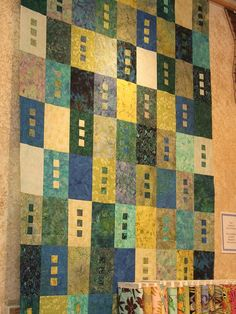 zen batik quilt by sushikat, via Flickr