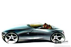 A key sketch for the first-generation BMW Z4 by Anders Warming