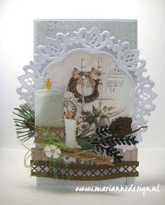 Christmas in July! Christmas In July, Christmas Cards, Marianne Design, Table Decorations, Paper, Spotlight, Pretty, Big Shot, Advent