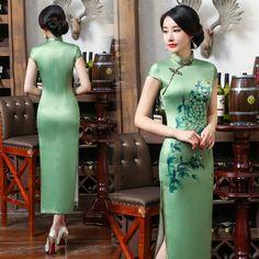LGD-17100BC-C0138-A-Green-floral-mandarin-collar-cap-sleeve-traditional-Chinese-dress-003-copy.jpg (800×800)