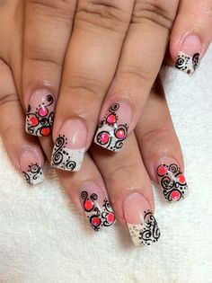 Cute design for natural nails