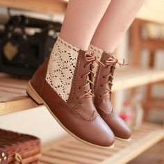 Aliexpress.com : Buy High qu2013 fashion women's casual boots college martin boots sweet flat shoes from Reliable flat ankle boots shoes suppliers on Vogue shoes $75.80