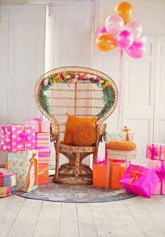 Light Pink, Bright Pink, Orange Bridal Shower A UNIQUE VIBRANT, COLOURFUL & MODERN BRIDAL SHOWER (40)
