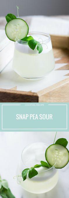 Spring Recipes | Snap Pea | Cocktail | Vodka | Ginger | Tonic | Lemon