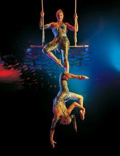 "Cirque du Soleil ""Saltimbanco"" Twin partner Trapeze"
