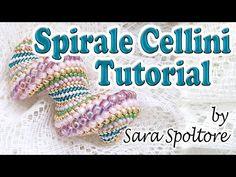Tutorial spirale Cellini - Come fare bracciale collana con la spirale Cellini - Tutorial perline - YouTube