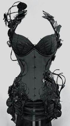 Hauntingly beautiful. My fantasy corset... <3