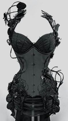 Hauntingly beautiful. My fantasy corset... <3