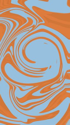 Blue Orange Trippy Swirl Abstract Art | Instagram Story Background Art iPhone & Android Screen Saver