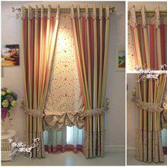 Stripe curtain fluid fabric curtain