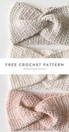 Crochet Patterns For Beginners, Easy Crochet Patterns, Knitting Patterns, Crocheting Patterns, Free Crochet Headband Patterns, Knit Headband Pattern, Beanie Pattern, Easy Knitting, Crochet Ideas