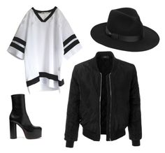 Untitled #3 by fodornikolett on Polyvore featuring polyvore, fashion, style, LE3NO, Vetements, Lack of Color and clothing