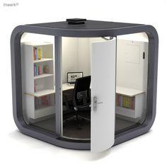 Cubes, Pods & Co. - Outdoor Büro Raumsystem OfficePOD ® Work 2.0 Premium  - Arbeitsplatz-Ausstattung - (Bild 4 von 31)