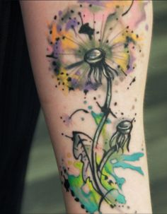 This is the closest I have found so far as to what I want my dandelion tattoo to look like.