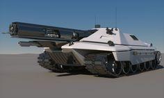 Sci-Fi Future Tank Concept 3D Model .max .obj .fbx - CGTrader.com