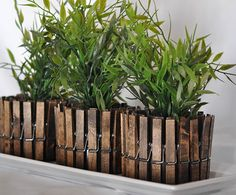 What to Make This Weekend: Marquee Signs, Clothespin Planters + More via Brit + Co.
