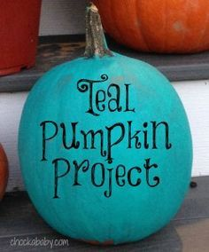 The Teal Pumpkin Project and Haters - Chockababy.com! #foodallergies #tealpumpkinproject