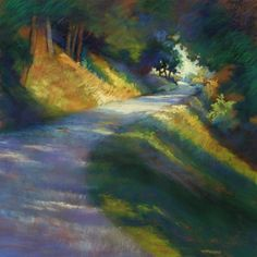 "Contemporary Drawing - ""Mingo Road Summer Light"" (Original Art from Marianna McDonald)"